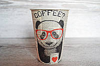 Бумажный стаканчик Панда 340 мл. 50 шт.  кр 80