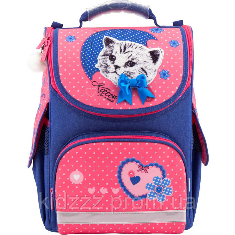 Рюкзак школьный каркасный Kite Pretty kitten Котенок Kite  (Кайт)