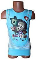 Туніка дитяча з гіпюром + смужка жилет (зріст від 104 см до 128см) - арт. 727823333