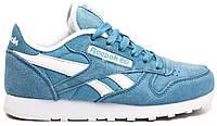 Женские кроссовки Reebok Classic Blue (Рибок Классик, синие)