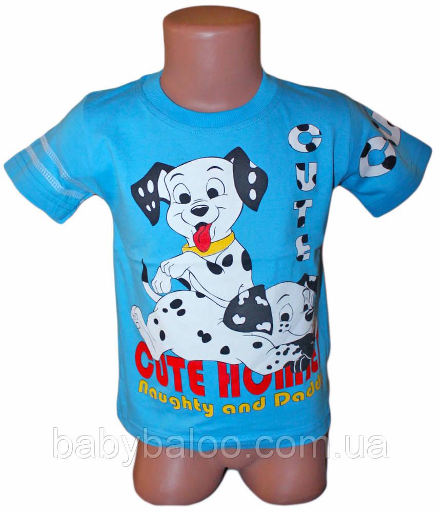 """Летняя футболка для мальчика """"Далматинец"""" (от 3 до 6 лет)"""