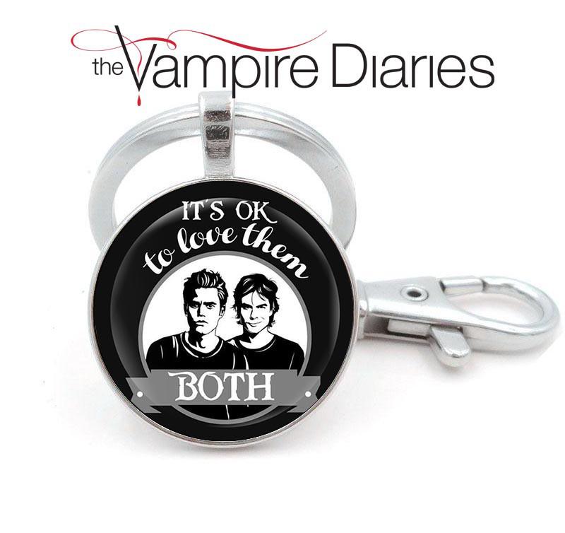 Брелок Дневники Вампира Vampire Diaries Елена Стефан и Деймон