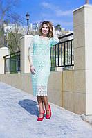 Нарядное платье-миди макраме (К23220), фото 1