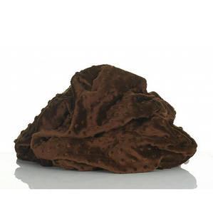Плюшевая ткань Minky темно-коричневый (плот. 380 г/м.кв)