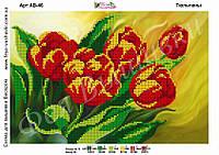 Схема частичной вышивки бисером Тюльпаны
