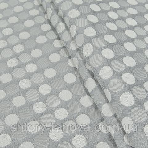 Декоративна тканина для штор, горохи темно-сірий