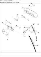 04-27 ВУЗОЛ СКЛООЧИСНИКА ЗАДНЬОГО І ПЕРЕДНЬОГО - узел стеклоочистителя заднего и переднего - windshield wiper assembly - front and rear - трактор Case