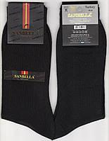 Носки мужские демисезонные хлопок Sanbella, Турция, ароматизированные, 40-44 размер, чёрные, 02423