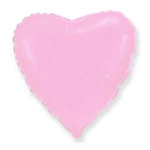Фольгированный шар сердце пастель розовое 45 см, Flexmetal Испания