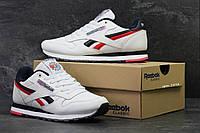 Мужские кроссовки  Reebok рибок-белые -Натур.кожа,вставки пресскожи,подошва пена Размеры: 41-46 Вьетнам, фото 1