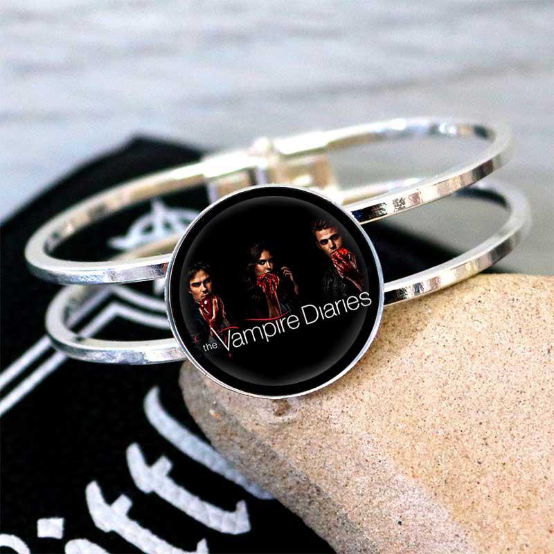 Браслет Дневники Вампира Vampire Diaries с логотипом