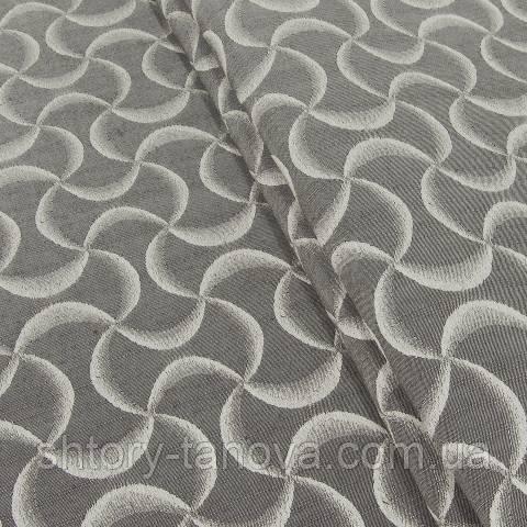 Декоративная ткань для штор, абстракция бежево-коричневый