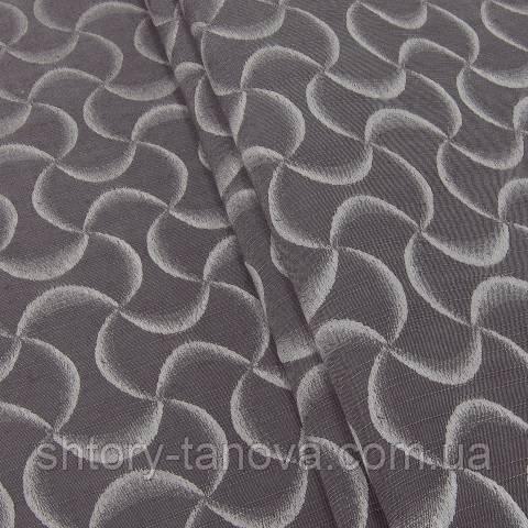 Декоративная ткань для штор, абстракция коричневый
