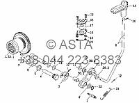 Раздаточная коробка - механизм управления на YTO X854