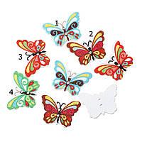 "Пуговицы ""Бабочки"" 24мм. 10шт в наборе, фото 1"