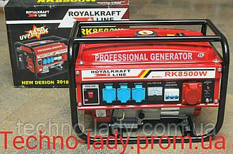 Генератор бензиновый 3-х фазный Royal Kraft RK8500W 6,5 кв