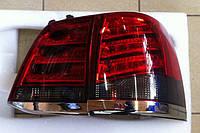 Фонари задние (стиль Лексус) Toyota Land Cruiser 200 дымчатые