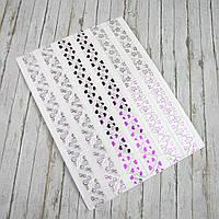 Уголки для фотографий розовые, самоклеющиеся на листе 102 уголка
