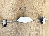 Вішалка для брюк з білою дерев'яною вставкою, фото 1