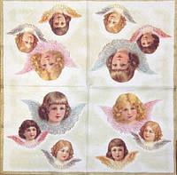 Декупажные салфетки с тремя ангелочками 1043