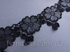 Кружево под кожу отличного качества 10,0см цвет черный