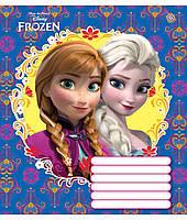 Тетрадь 12 листов клетка Frozen