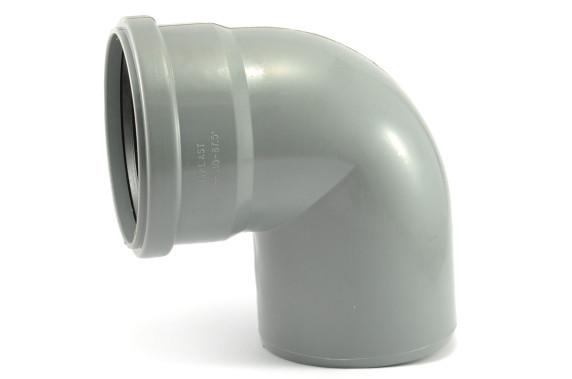 Колено ПВХ 50*90 внутренняя канализация