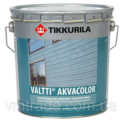 Пропиточное средство, морилка Тиккурила Валтти Акваколор (Valtti Akvacolor Tikkurila), 9л