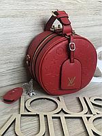 Новинка сезона! Женская Сумка-клатч бочонок  Louis Vuitton LV (луи витон) 3D red