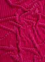 Детская плюшевая ткань Stripes малиновый (плот. 350 г/м.кв) 100*80 см