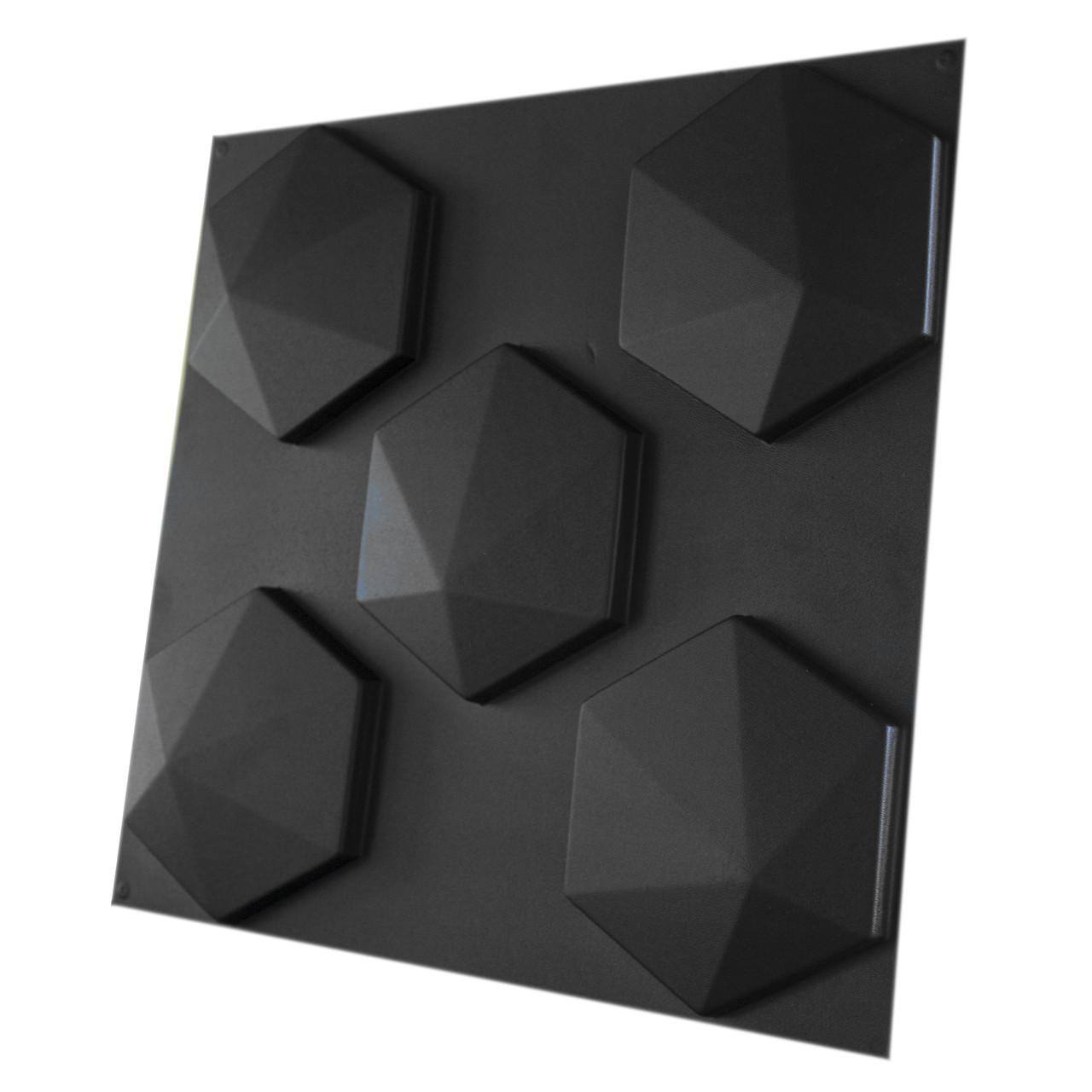 """Форма для 3D панелей """"Шестигранник № 2"""" 190*175 мм"""
