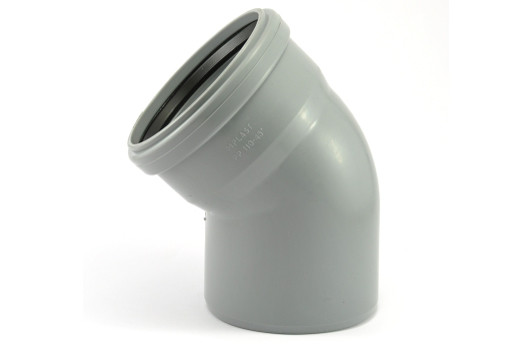 Колено ПВХ 50*45 внутренняя канализация