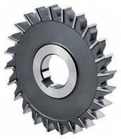 Фреза дисковая 3-х сторонняя  63х22х12 мм, Z=12 Р6М5 с разнонаправленными зубьями