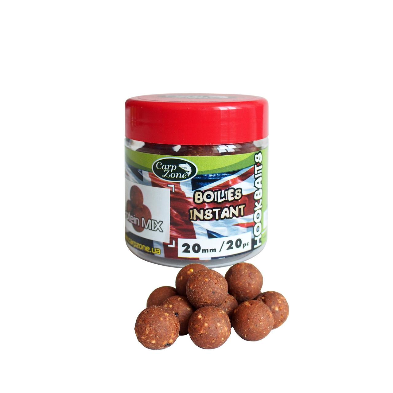 Бойлы насадочные вареные Boilies English series Instant Hookbaits Protein Mix20mm  / 20pc