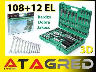 Набор  инструментов 108 шт +12 ключей Torx Tagred