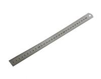 Линейка металлическая  с двусторонней шкалой 1500х40х1,6мм