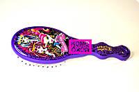 Расческа  для девочки массажная детская Monster High, Монстр хай фиолетовая