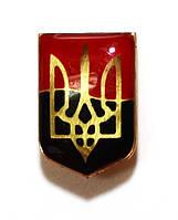 Значок герб Украины  на фоне флага УПА, фото 1