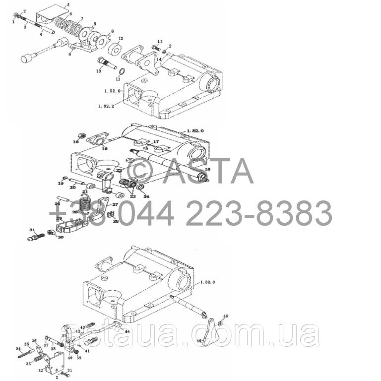 Распределитель управления на YTO X854