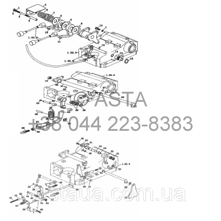 Распределитель управления с быстрым переключением передач на YTO X854