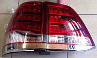 Фонари задние (стиль Лексус) Toyota Land Cruiser 200 светлые, фото 1