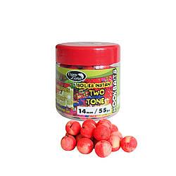 Бойлы насадочные вареные CarpZone Boilies Instant Two Tone Hookbaits Strawberry & Bergamot (Клубника Бергамот)