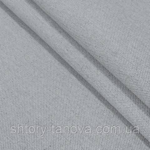 Декоративна тканина, льон, однотонний сірий
