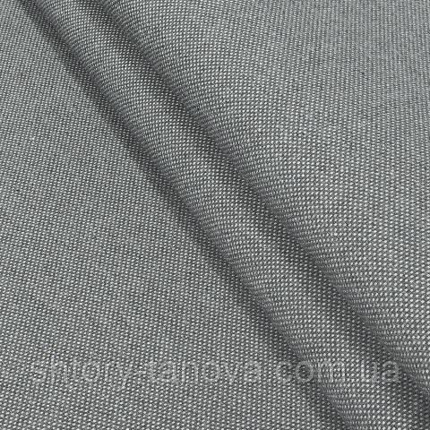 Декоративная ткань, лён, однотонная тёмно-серый