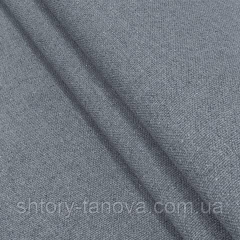 Декоративна тканина, льон, однотонна сіро-блакитний