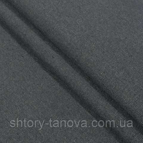 Декоративна тканина, льон, однотонна графіт