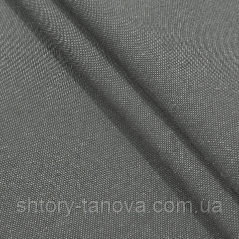 Декоративная ткань, лён, однотонная коричнево-серый