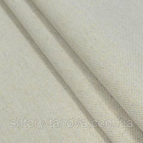 Декоративная ткань, лён, однотонная светлый беж