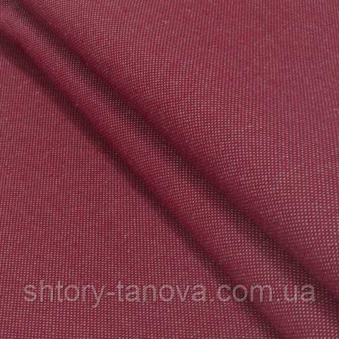 Декоративная ткань, лён, однотонная вишня