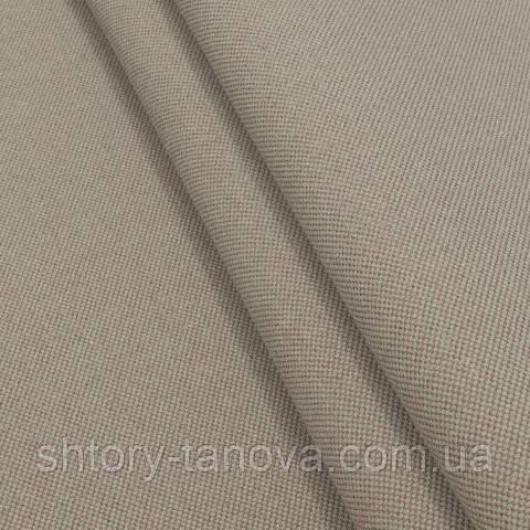 Декоративная ткань, лён, однотонная серо-терракотовый